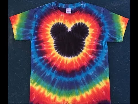 1db3c5c1d Mickey Mouse Tie Dye Shirt - Part 1 - Folding the shirt - YouTube