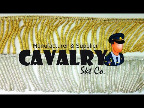 Handmade Gold Bullion Wires Frings Production  Cavalry Skt Co. 