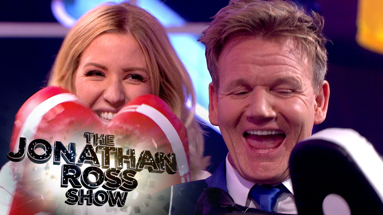 Watch Ellie Goulding PUNCH Gordon Ramsay as TV chef pleads