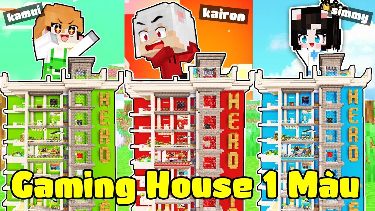 Kairon Và Hội Chị Em Xây ''Gaming House Bí Mật Một Màu'' Trong Làng Hero Team Minecraft
