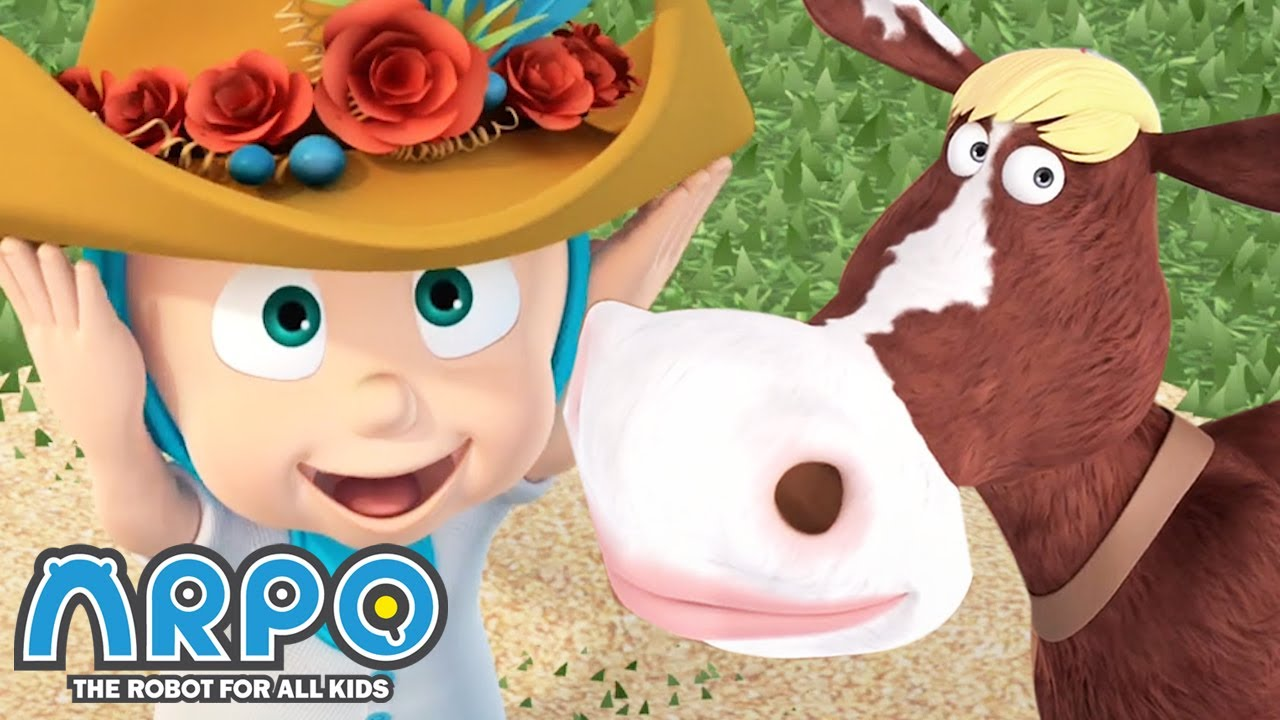 Arpo the Robot | LuLu and the Flower Hat | Best Moments | Funny Cartoons for Kids | Arpo and Daniel