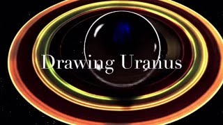 Drawing Uranus eclipsing the sun.