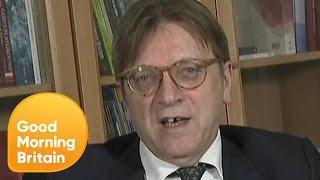 Brexit Negotiator Guy Verhofstadt Denies Accusing Theresa May of Blackmail   Good Morning Britain thumbnail