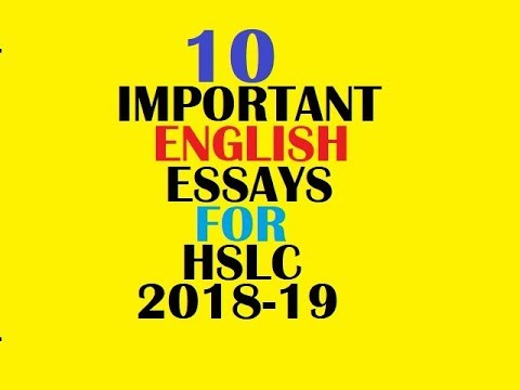 Important English Essays For Hslcahm   Assamese  Youtube  Important English Essays For Hslcahm   Assamese