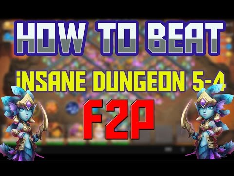 Castle Clash How To Beat Insane Dungeon 5-4 F2P