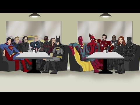 Как следовало закончить фильм 'Первый Мститель: Противостояние' (Русская озвучка)