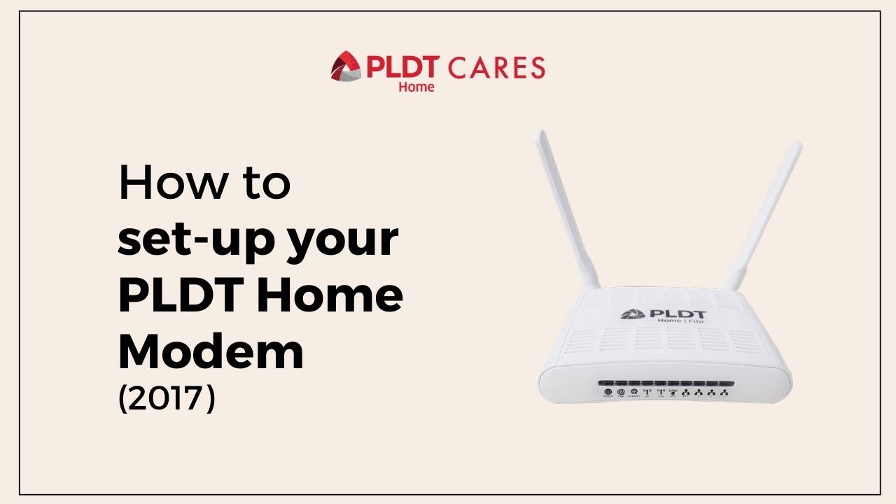 How To Set Up Your Pldt Home Modem 2017 Model Quicktips Youtube