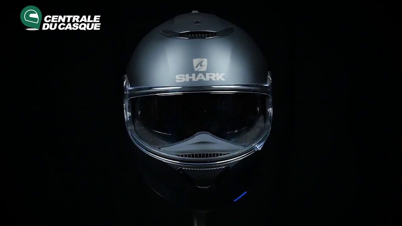 360 Shark Spartan Blank Mat Black Centrale Du Casquecom Youtube