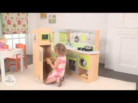 Kidkraft Lime Green Corner Kitchen   Little Dreamers