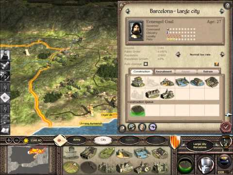 Medieval 2 Total War The Kingdom Of Aragon with 1143 mod Part 1