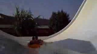 majorca 2007  aqualand  water park boomrang water ride
