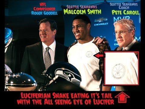 Super Bowl MVP Malcolm Smith Wearing Illuminati Clothes