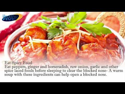 Nasal Congestion | How To Get Rid Of A Stuffy Nose Instantly | Fast Relief Blocked Nose