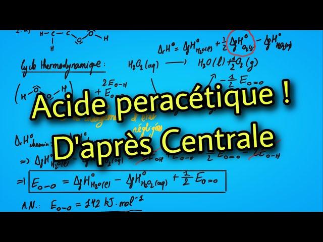 🧪 Acide peracétique (d'après Centrale)