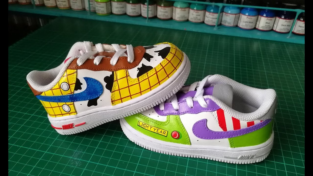 Speed Painting Chaussures Toy Story Sur Nike Air Force One Toy
