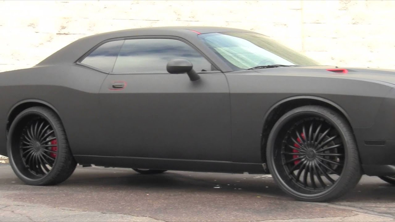 Dodge Challenger Matte Black Youtube