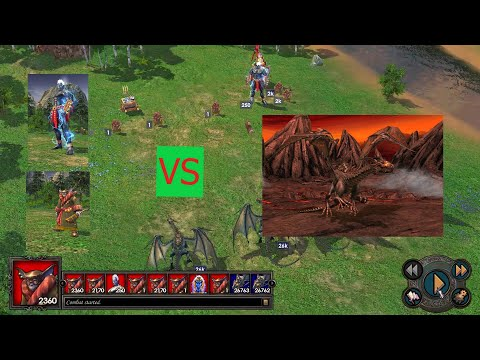 250 Titan vs 107.051 Black Dragon - Heroes of Might and Magic V - Offline Strategy Game |