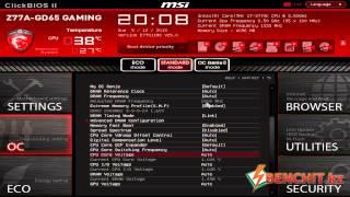 Видеобзор BIOS материнской платы MSI Z77A-GD65 Gaming