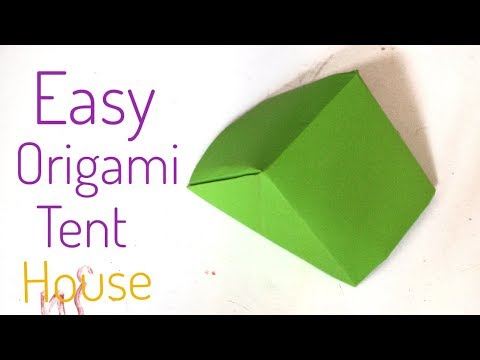 very easy paper tent \paper tent for kids