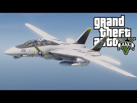 GTA V F-14A Tomcat with custom weapon models(MOD)