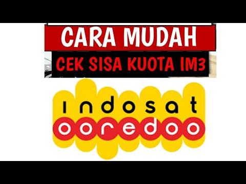 Cara Cek Kuota Internet Im3 Indosat Ooredoo Youtube