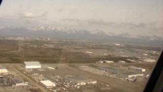 Taking off from Anchorage International Airport