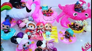 ALL DOLLS LOL in the POOL WILL not FIT (((Cartoons with dolls LOL. Videos for children