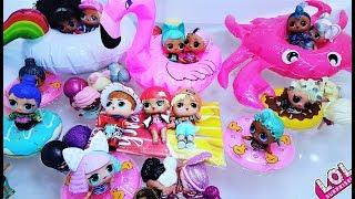 ВСЕ КУКЛЫ ЛОЛ В БАССЕЙН НЕ ВЛЕЗУТ((( Мультики с куклами ЛОЛ. Видео для детей