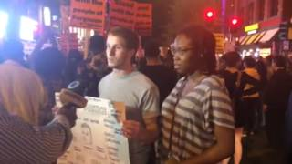 DC March on China Town fir Mike Brown  - xlnt interview at