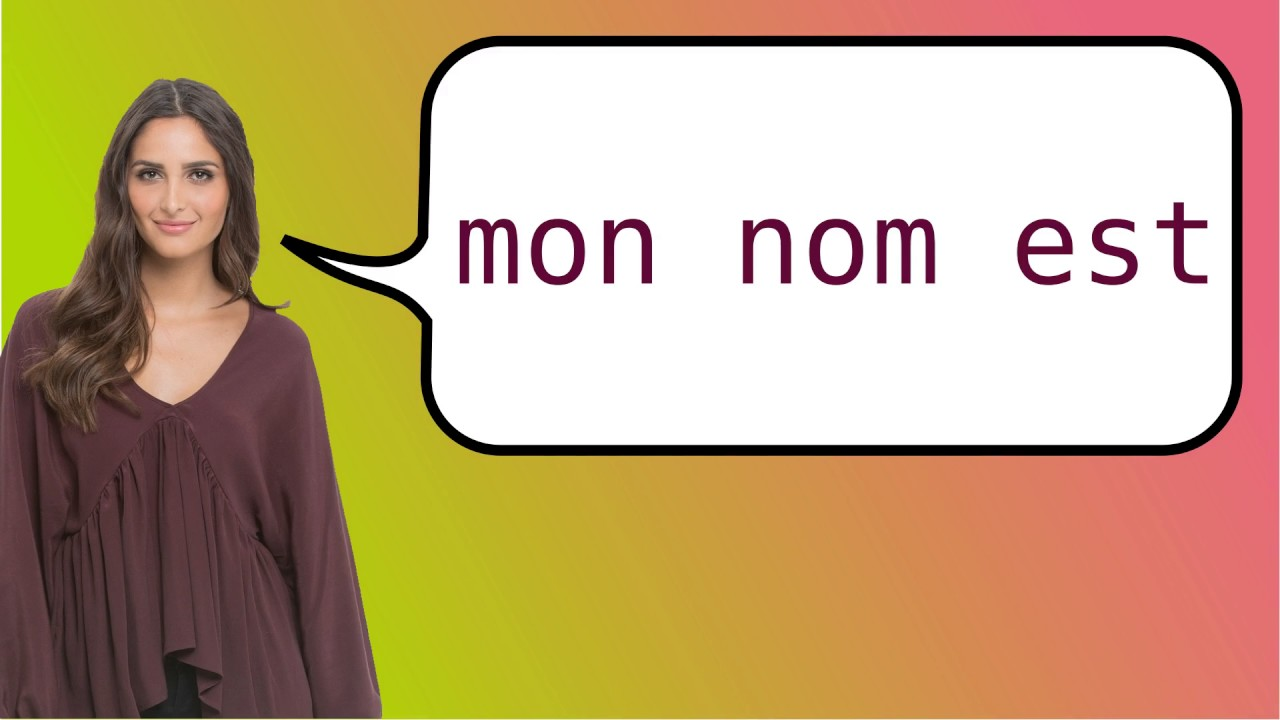 How to say my name is in French? - YouTube