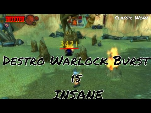 Destruction Warlock PvP Vanilla WoW Commentary - Roll a Destro Lock in Classic WoW for Huge Burst