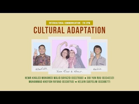 Cultural Adaptation • Intercultural Communication