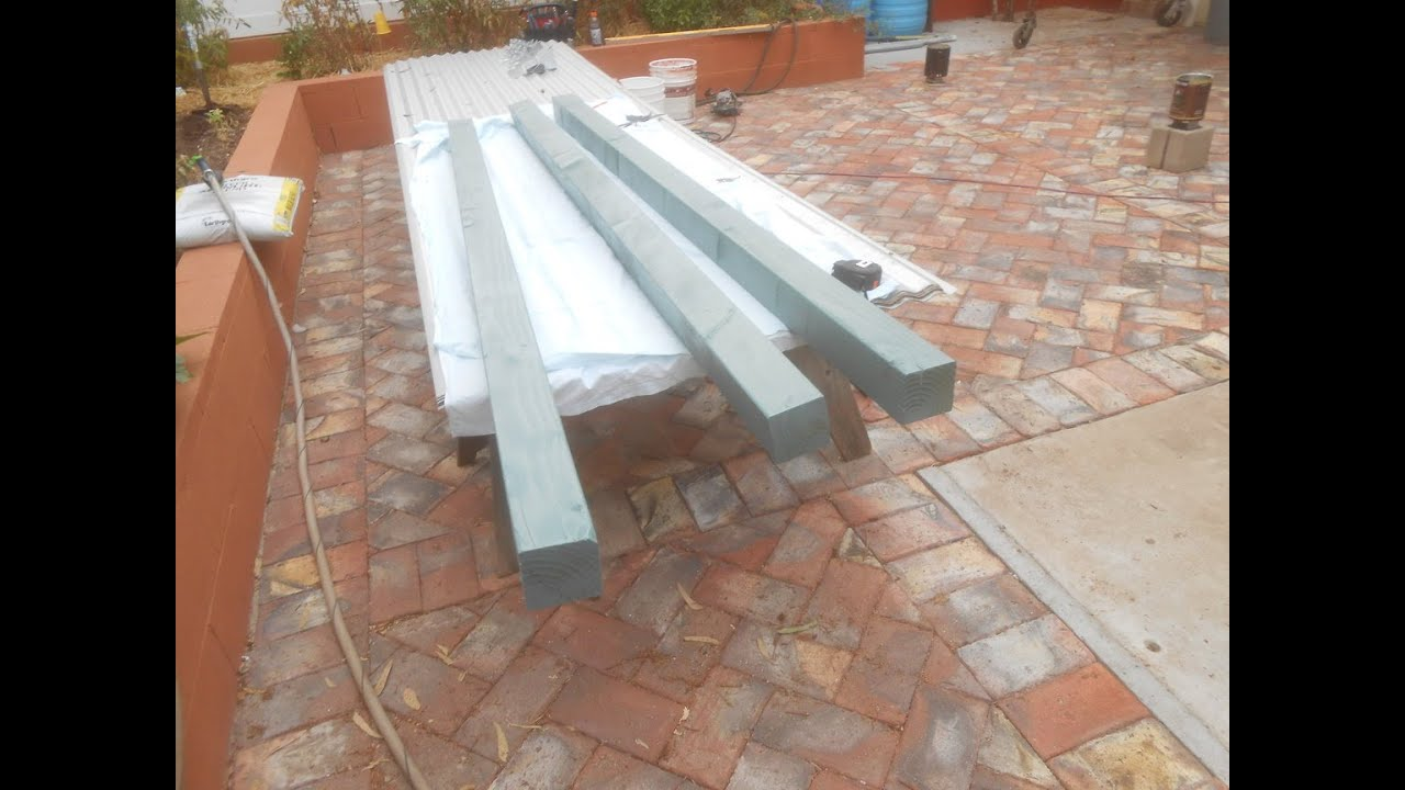 Corrugated Metal Patio Cover Top In San Diego Youtube