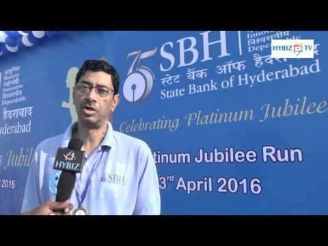 Santanu Mukherjee MD State Bank of Hyderabad - SBH Platinum Jubilee Run - hybiz