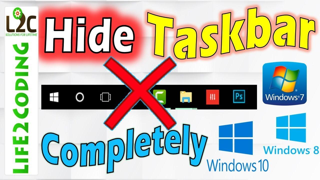 How To Get Rid Of Top Taskbar Windows 10