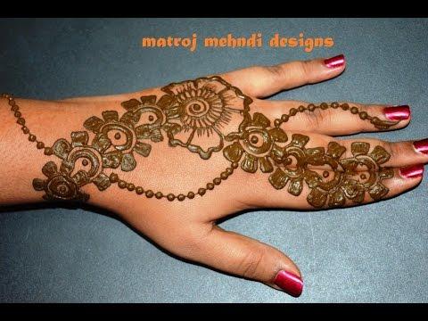 Stylish Simple Easy Mehndi Henna Designs For Beginners Matroj