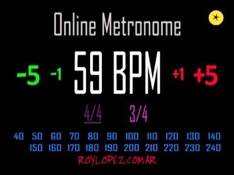 Metronomo Online - Online Metronome - 59 BPM 3/4 - YouTube