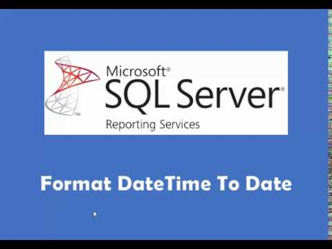 SSRS Format DateTime to Date on Report