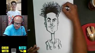 How To Draw and Color A Caricature Lamelo Ball