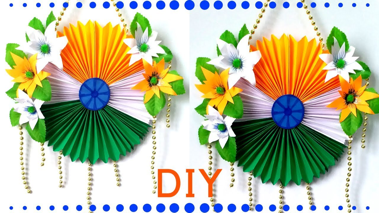 Diy Tricolor Independence Day Craft Independence Day Wall Hanging