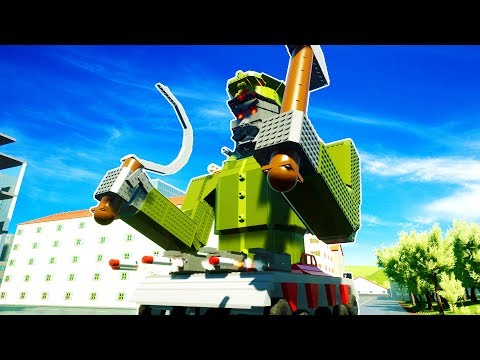MISSILE LAUNCHING ROBO STALIN DESTROYS BRICKSVILLE! - Brick Rigs Workshop Creations Gameplay
