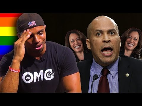 Corey Booker and a Man walk into a bathroom...