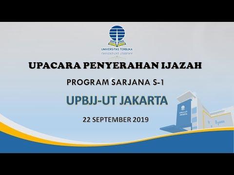 Upacara Penyerahan Ijazah Program Sarjana S-1 UPBJJ-UT Jakarta
