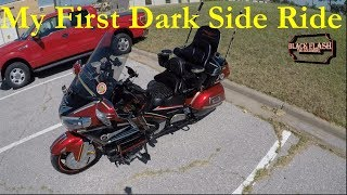 My Double Dark Side First Ride on Black Flash the Goldwing