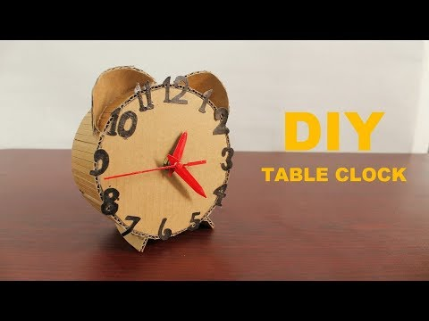 How to Make an Amazing Clock From Cardboard