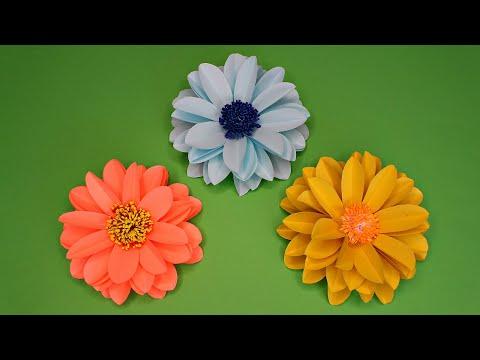 Как сделать красивые цветы из бумаги своими руками схемы