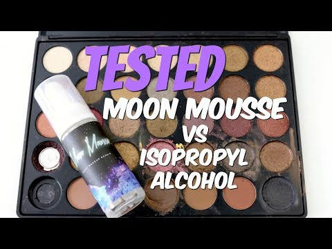 THE MAKEUP BREAKUP - Testing Moon Mousse | How does it compare to isopropyl alcohol