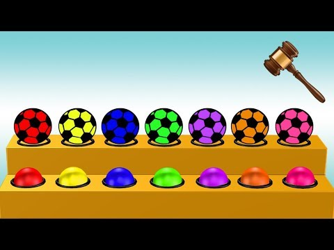 Soccer Ball Colors Video For Children || Learning Colors For Kids thumbnail