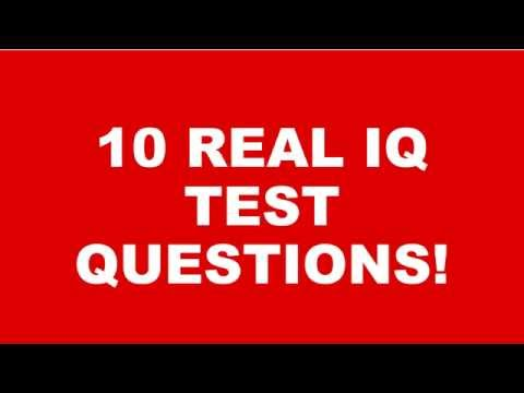 WHATS YOUR IQ? 10 REAL IQ TEST QUESTIONS AND ANSWERS!  Part 1