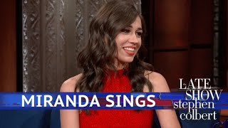 Miranda Sings Gives Birth On The Stephen Colbert Show To A Hairy Squash